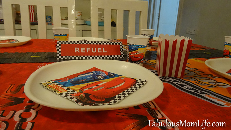 Cars Theme Birthday Party Table And Place Setting