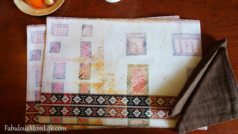 Ivory Brown Placemats and Napkins from The Postbox