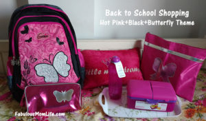 Back to School Shopping - Hot Pink and Black