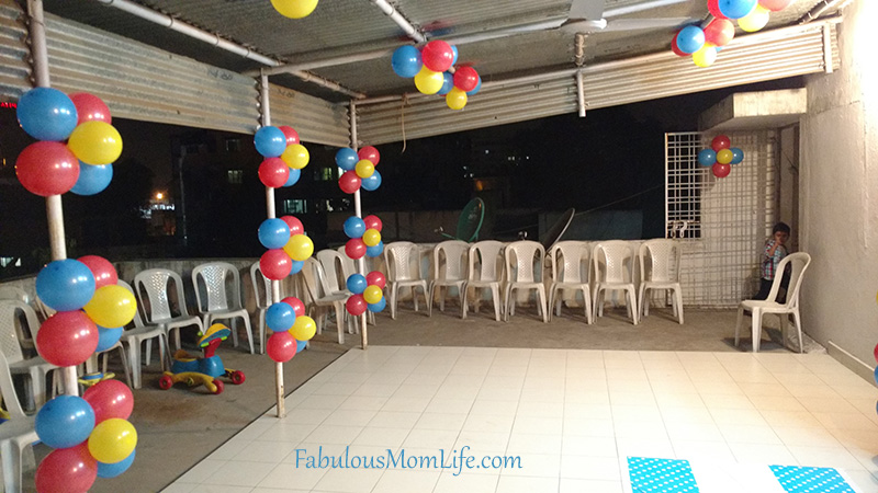Beyblade Party Decoration with balloons