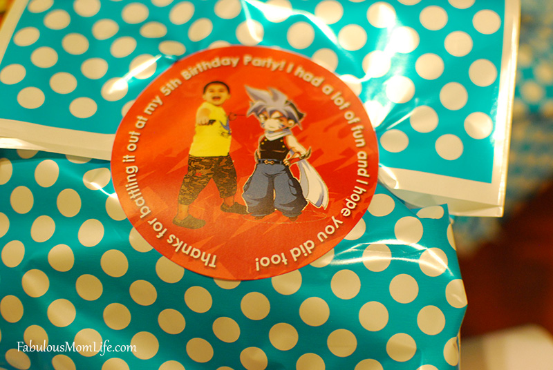 Beyblade Party Thank You Stickers