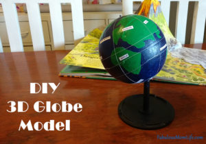 DIY 3D Globe Model for School Project