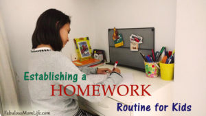 Establishing a Homework Routine for Kids