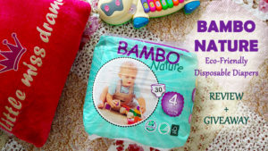 Bambo Nature Eco Friendly Disposable Diapers Review + Giveaway