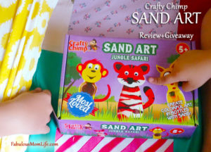 Crafty Chimp Sand Art Jungle Safari – Review + Giveaway