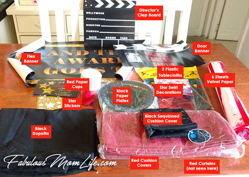Movie Awards Night Red Carpet Decoration Party Supplies