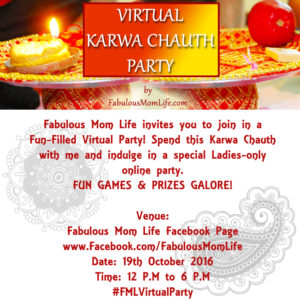 Virtual Karwa Chauth Party by FabulousMomLife.com #FMLVirtualParty