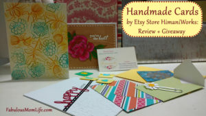 Handmade Cards by Etsy Store HimaniWorks: Review + Giveaway