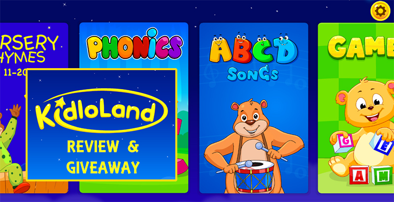 KidloLand Kids Activities App - Review + Giveaway