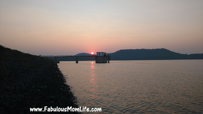 Sunset at Bor Dam, Nagpur