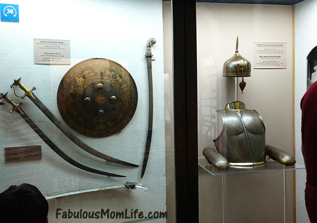 Emperor Akbar's Shield and Armor at the Mumbai Museum