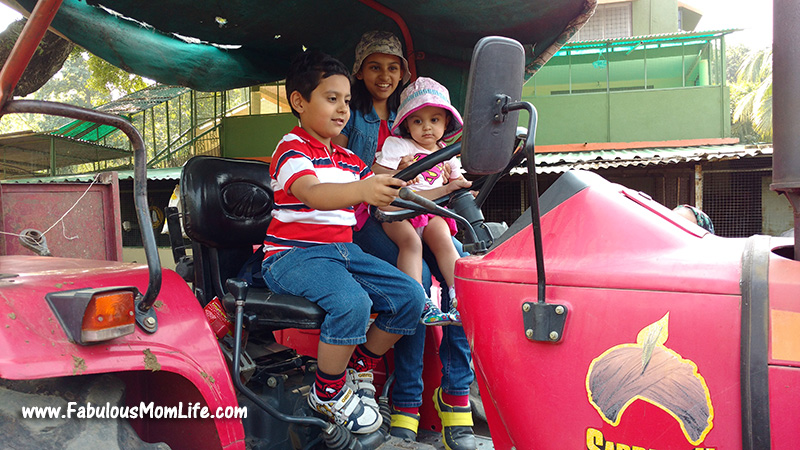 Kids Role Play at the Farm Tractor