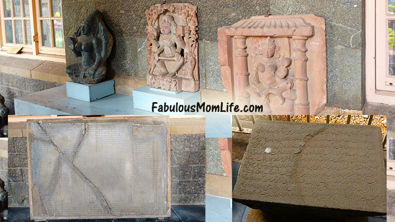 statues and stone inscriptions from centuries ago