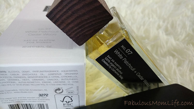 rituals no 07 white patchouli and cedar wood perfume review