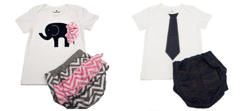 BumChum Hybrid Cloth Diapers and Matching T Shirt Set