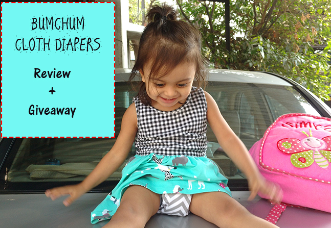 BumChum Hybrid Cloth Diapers India - Review + Giveaway