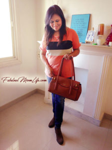 Casual Jeans+Tee Outfit with Tan Handbag and Boots - Indian Mom Fashion