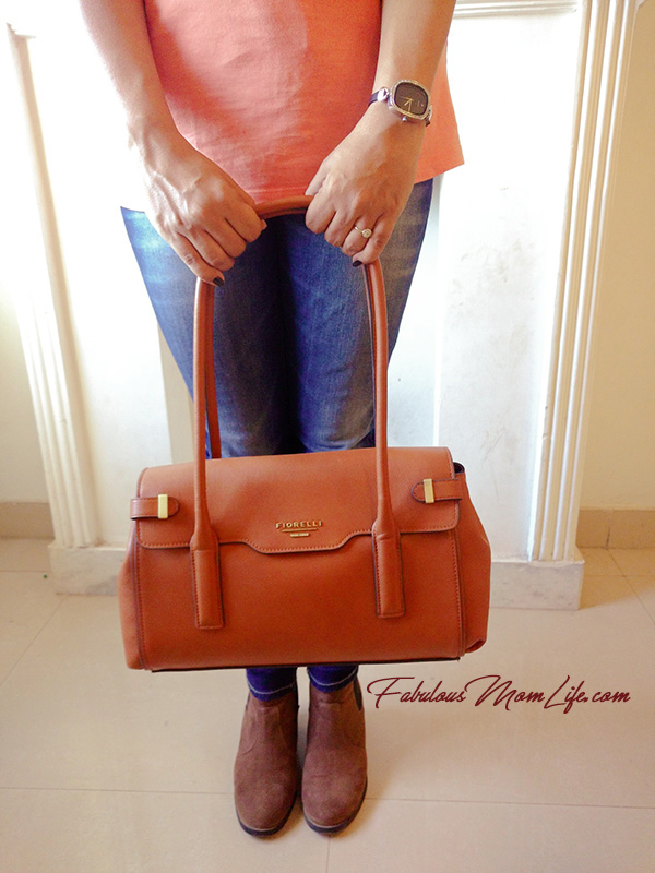 Tan Fiorelly Handbag and H & M Booties