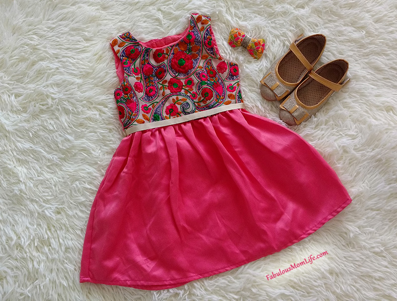 Embroidered Pink Dress - Toddler Girl Party Fashion Outfit