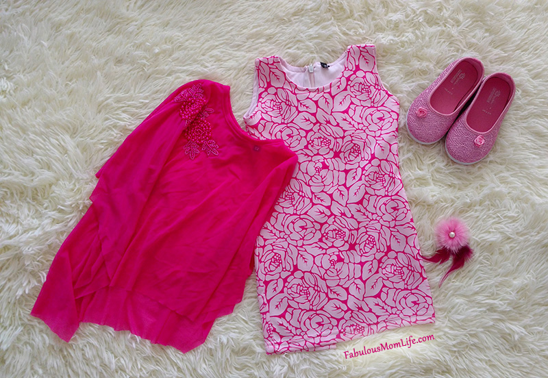 Pink Net Overlay Dress with Pink Shoes - Toddler Girl Party Fashion Outfit