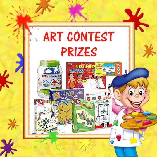 Prizes for Art Contest for Kids in India by Fabulous Mom Life