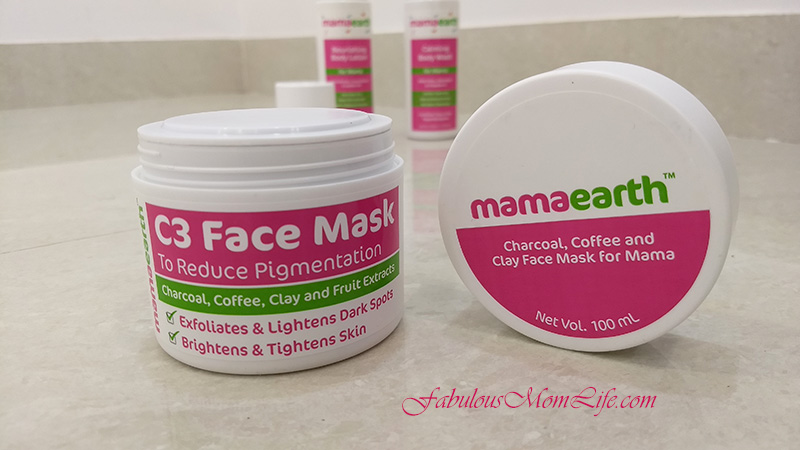 Mamaearth C3 charcoal face mask review