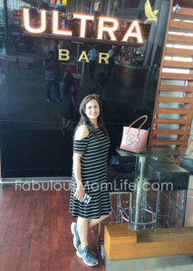 Black and White Striped dress with shoes outfit - Mumbai Airport Look