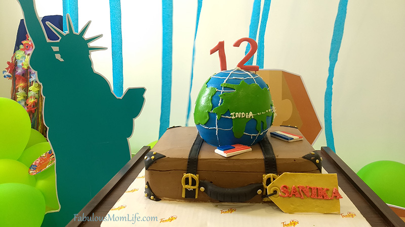 Around the World Themed Birthday Cake