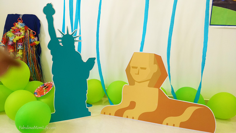 Around the World Party Decor - Sphinx and Statue of Liberty