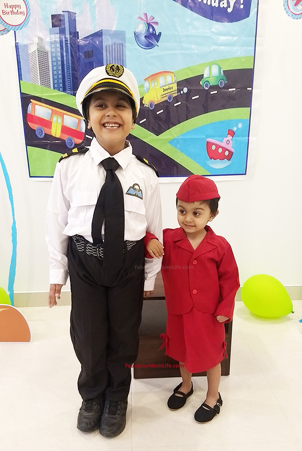 Around the World Birthday Party - Pilot and Air Hostess