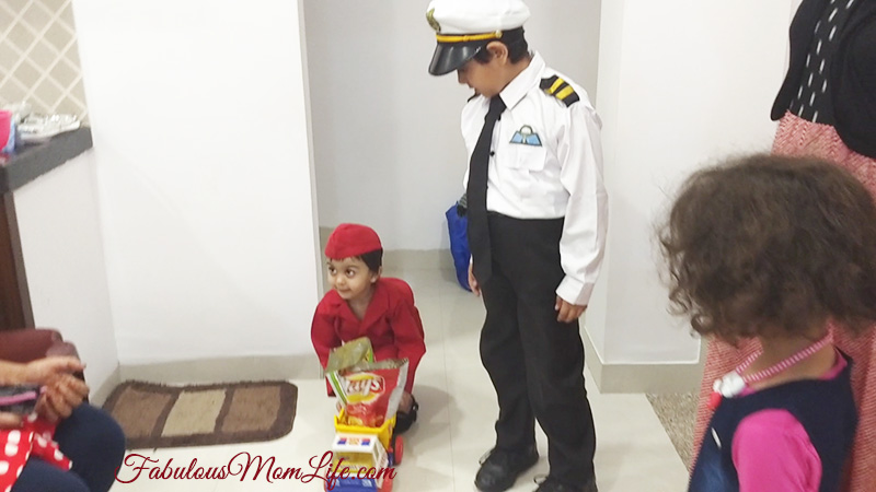 Around the World Birthday Party - Air Hostess Bringing Snacks