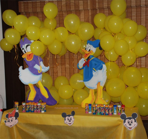 Donald Duck, Daisy - Bright Colored Decor for First Birthday