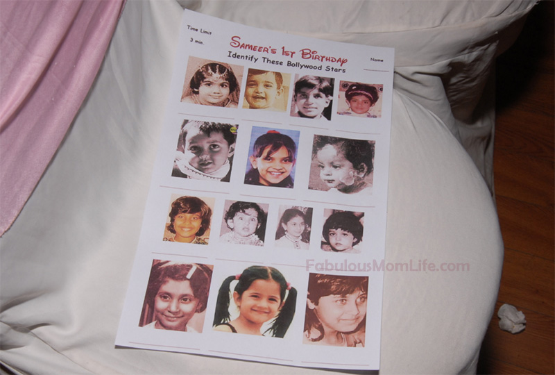 Bollywood Babies Guessing Game - First Birthday Party Game for Grown Ups