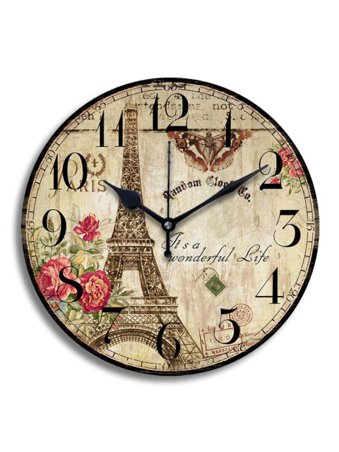 Shabby Chic Eiffel Tower Wall Clock for My Bedroom