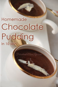 Simple, Homemade Chocolate Pudding