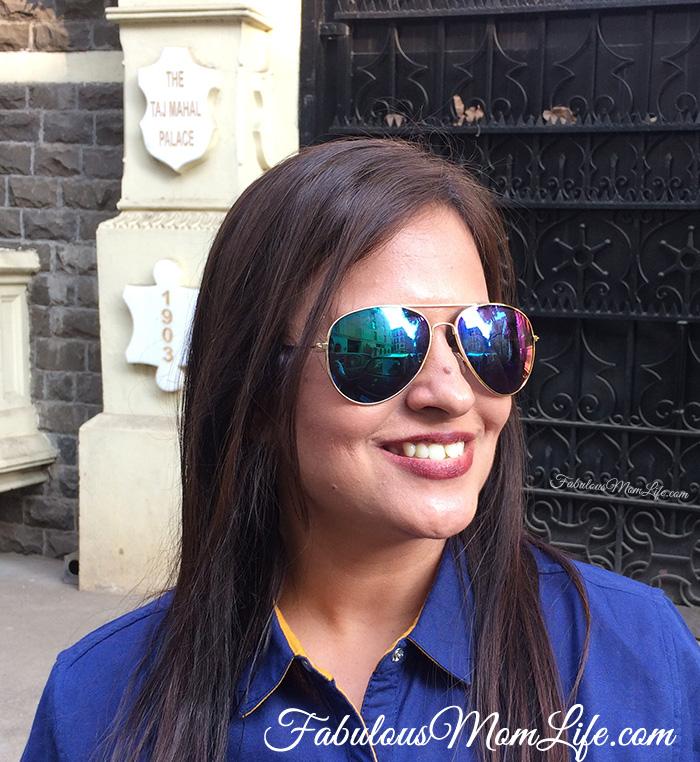 Blue Mirrored Reflector Sunglasses