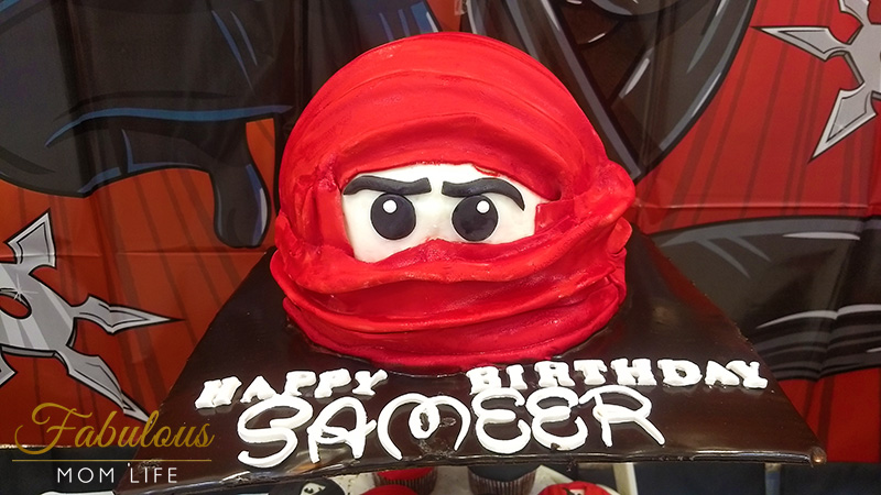 Ninja Birthday Party Cake