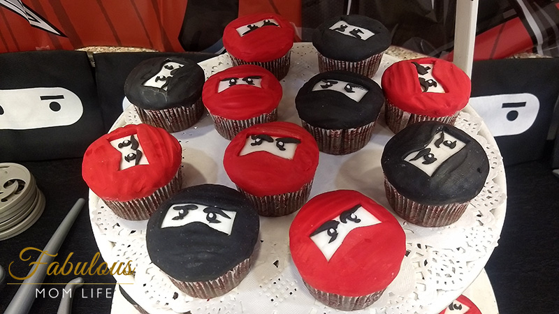 Ninja Birthday Party Cupcakes