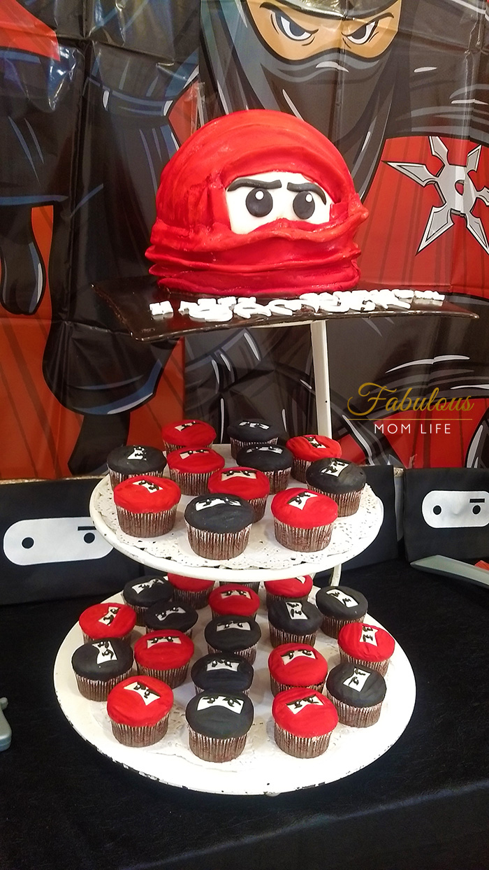 Ninja Birthday Party Cake and Cupcakes