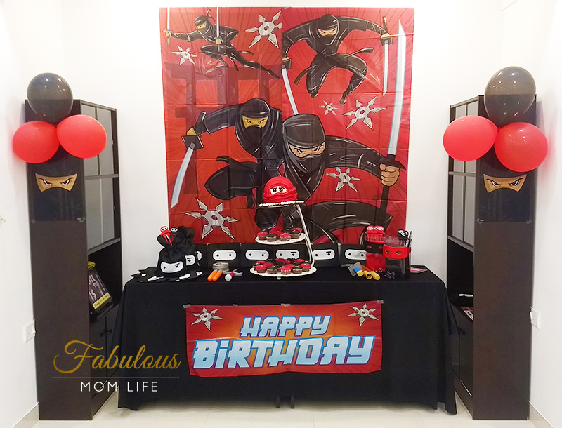 Ninja Birthday Party Decoration Ideas