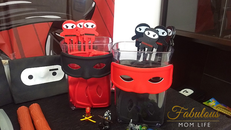 Ninja Birthday Party Favors - Ninja Masks and Chopsticks