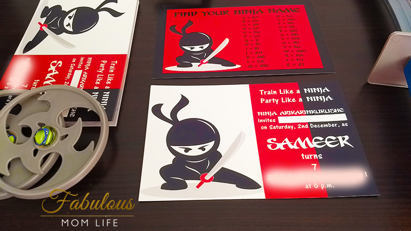 Ninja Birthday Party Invitation Ideas