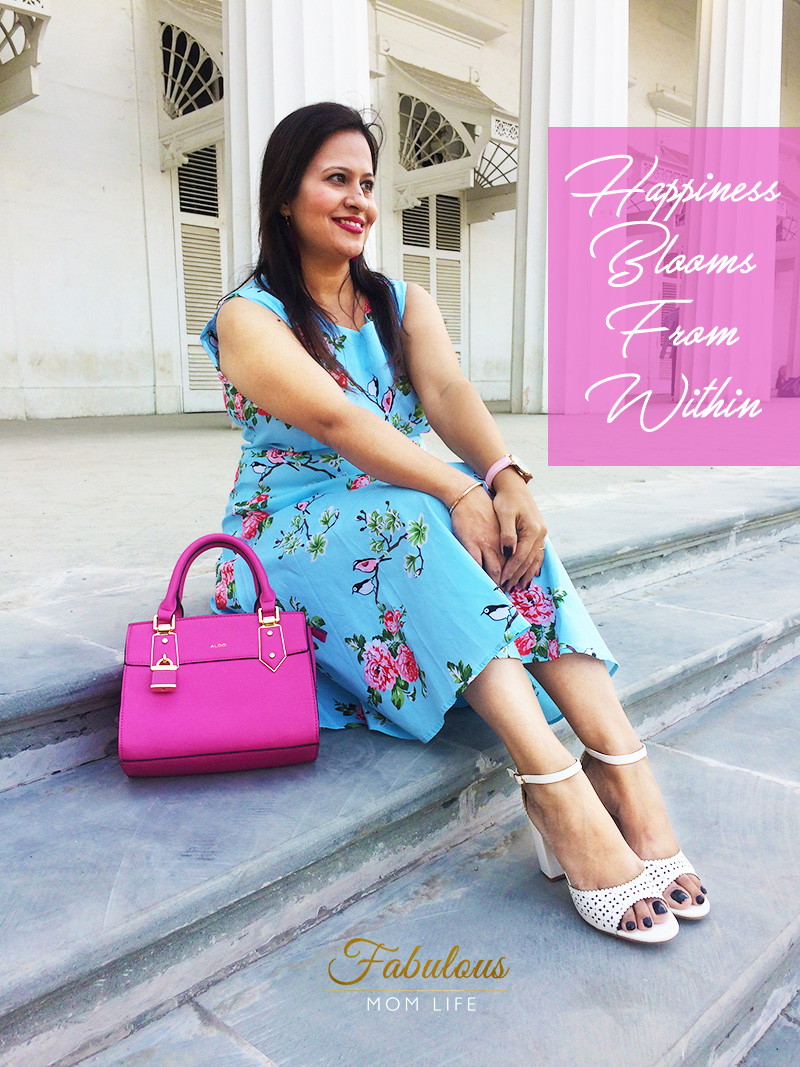 Love is in the Air - Blue and Pink Floral Dress Outfit