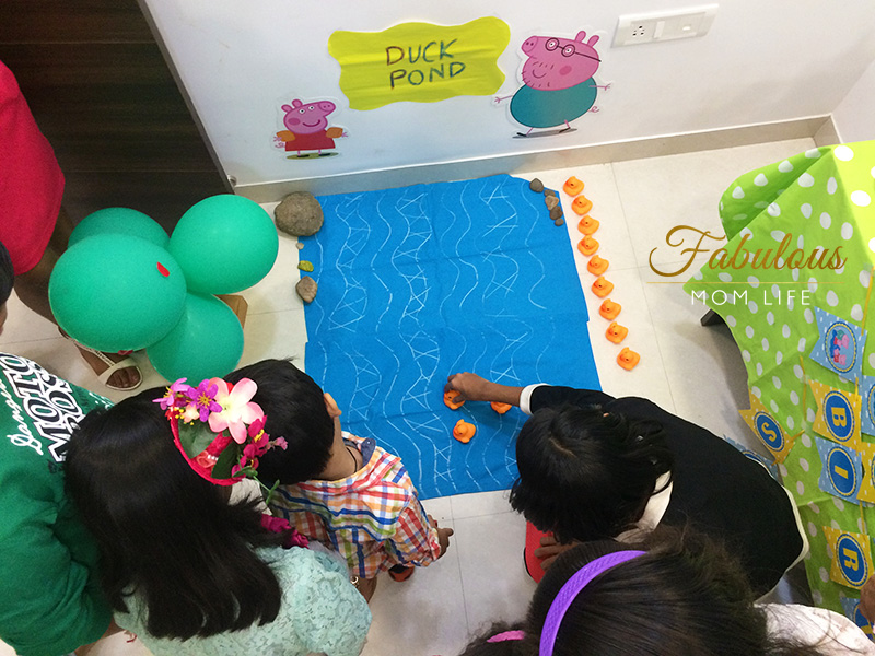 duck pond race game - Peppa Pig Birthday Party Games