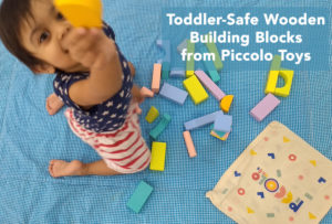 Toddler-Safe Wooden Building Blocks from Piccolo Toys