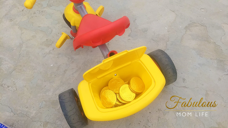 treasure hunt for toddlers chocolate coins