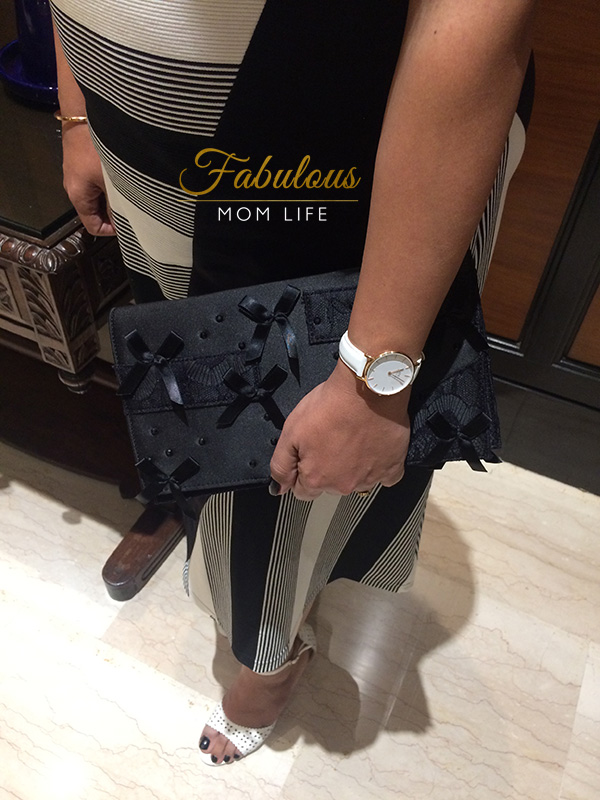 prabal gurung for neiman marcus evening clutch and Daniel Wellington Classic Petite Watch