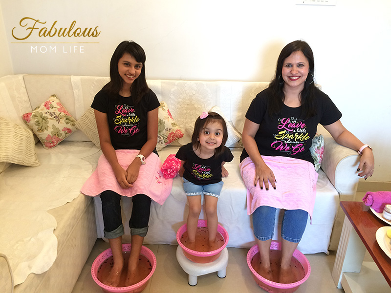 Mommy and Daughters At Home Spa Day with BonOrganik