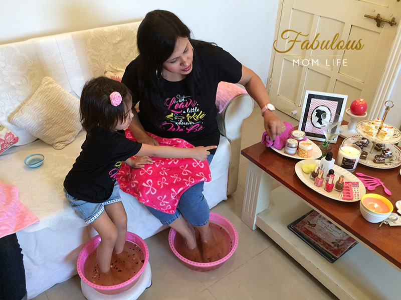 Mother's Day Spa Party - At Home Manicures for Little Girls