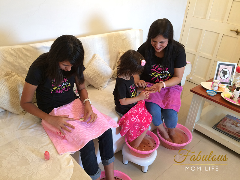 Mother's Day Spa Party in Matching Tees